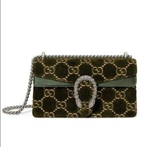 Gucci Velvet Small Dionysus Crossbody Bag NEW